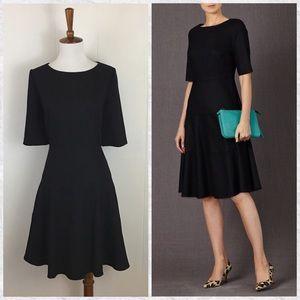Boden NEW 1/2 Sleeve Wool Blend Skater Dress